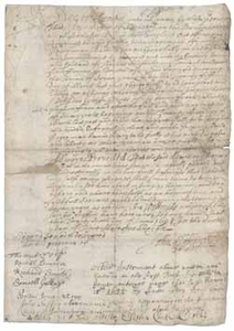 Document signed by John Saffin regarding the emancipation of Adam (a slave), 26 June 1694