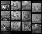 Set of negatives by Clinton Wright including baby on H Street, Madison Negro History Week, and Westside School teachers, 1967