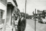 Richard Breland and John Odom on Harrison Street in front of Aunt Edith's Luncheonette.