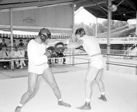 Louis, Joe; Boxer; Training; Northville; . Kalamazoo; Belle River. -Training at West Baden Ind. Waddy Hotel
