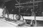 In the school's sawmill