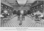 Luxury and comfort; An elegantly appointed barber shop owned and patronized exclusively by colored citizens, Birmingham, Alabama