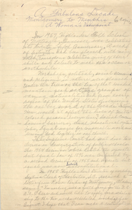 """""""A Fabulous Decade. Montgomery to Memphis. A Woman's Viewpoint,"""" Handwritten"""