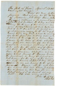 Legal Statement of Sale for Slave Washington County legal documents