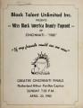 Miss Black Cincinnati pageant [1980]