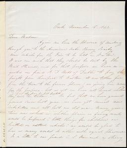 Letter from Isabel Jennings, Cork, [Ireland], to Maria Weston Chapman, November 15, 1842