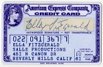 [Ella Fitzgerald's American Express Company credit card, expired October 1961.]