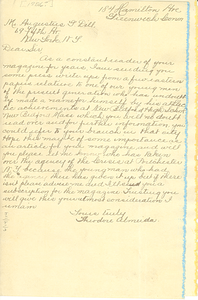 Letter from Theodore Almeida to Crisis