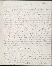 Letter to] My dear bro[ther] Wright [manuscript