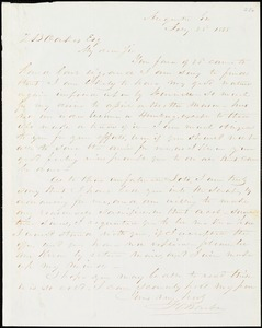 F. C. Barber, Augusta, Ga., autograph letter signed to Ziba B. Oakes, 28 February 1855