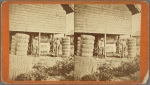 Two plantation workers outside a cotton mill