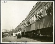 """""""Negro Troops Passing Through St. Louis to get last troops from the states of Louisiana, Mississippi and Alabama."""""""