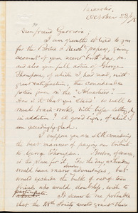 Letter from Samuel May, Jr., Leicester, [Mass.], to William Lloyd Garrison, October 23 / [18]78