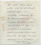 Your Fellow Comrade to [James Meredith] (Undated)
