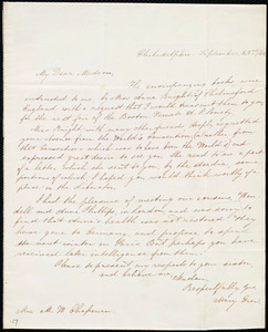Letter from Mary Grew, Philadelphia, [Penn.], to Maria Weston Chapman, September 23rd / [18]40