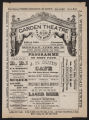 Garden Theatre, Various acts (June 20, 1881) Various acts