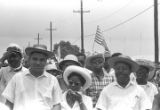 """Whitney M. Young, Juanita Abernathy, Ralph Abernathy, and others, participating in the """"March Against Fear"""" through Mississippi, begun by James Meredith."""