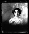 Vignetted portrait of young African American woman