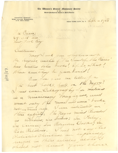 Letter from Lillian Robertson to The Crisis