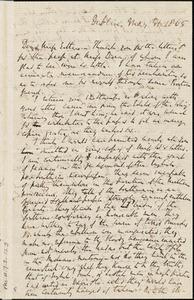 Letter from Richard Davis Webb, Dublin, [Ireland], to Mary Anne Estlin, 1865 May 31