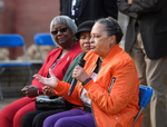 Henrieese Roberts speaking at Commemorative Ceremony, February 24, 2020