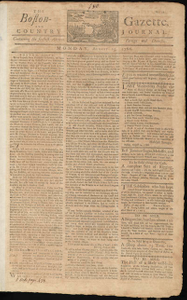 The Boston-Gazette, and Country Journal, 25 August 1766