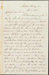 Letter from Mahlon B. Linton, [Pa.], to William Lloyd Garrison, Nov[ember] 17. 1863