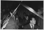 [Duke Ellington, unidentified trumpet player, and Chick Webb: photograph,] 1937