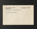 "Financial Records, 1916-1966. Fund Raising Subject Files, circa. 1930-1950. """"Colored"""" Work, 1933-1944. (Box 21, Folder 19)"