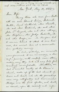 Letter from William Lloyd Garrison, New York, to Helen Eliza Garrison, May 10, 1865