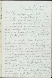 Letter from William Lloyd Garrison, Longwood, [Pa.], to Helen Eliza Garrison, June 4, 1864, Saturday Morning