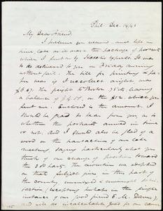 Letter from James Miller M'Kim, Phil[adelphia,] [Penn.], to Maria Weston Chapman, Dec. 14/[18]43