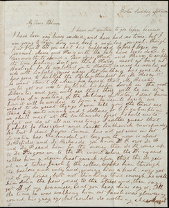 Letter from Lucia Weston, Boston, [Mass.], to Deborah Weston, Sunday afternoon, [1836]