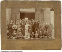 Carthage school photo, Carthage, Indiana, circa 1895