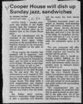 Cooper House will dish up Sunday jazz, sandwiches