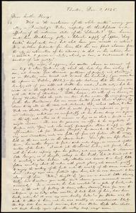 Letter from William Lloyd Garrison, Boston, [Mass.], to Henry Egbert Benson, Dec. 3, 1836