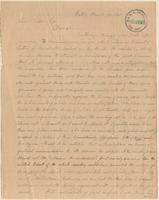 Letter from Alpheus Bigelow to Lewis Tappan