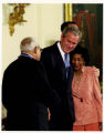 Benjamin and Frances Hooks with President George W. Bush