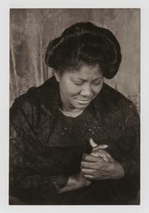 "Mahalia Jackson, from the unrealized portfolio ""Noble Black Women: The Harlem Renaissance and After"""