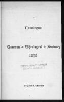 Gammon School of Theology, 1888