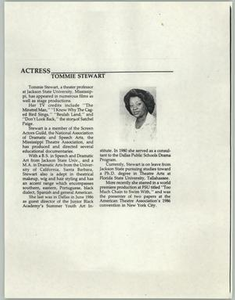 Article: Actress Tommie Stewart