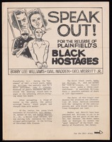 Leaflet. Speak Out! For the Release of Plainfield's Black Hostages