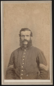 [Sergeant Edward A. Buell of Co. B and Co. H, 73rd Pennsylvania Infantry Regiment in uniform]