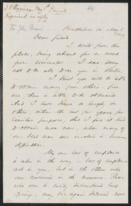 Thomas Wentworth Higginson autograph letter signed to [John Brown], Brattleboro, Vt., 1 May 1859