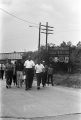 Marchers leaving Hernando, Mississippi, on the March Against Fear, the day after James Meredith was shot.