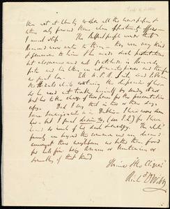 Partial letter from Richard Davis Webb to Maria Weston Chapman, [1842-1844]