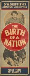 The Birth of a nation, D.W. Griffith's immortal masterpiece--First time in sound