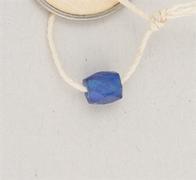 Blue glass trade bead