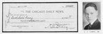 A.J. Carey, Jr.; The Chicago Daily News [1st prize check]