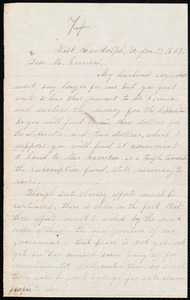 Letter from Abby Hutchinson Patton, West Randolph, Vt., to William Lloyd Garrison, Jan[uary] 17, 1863
